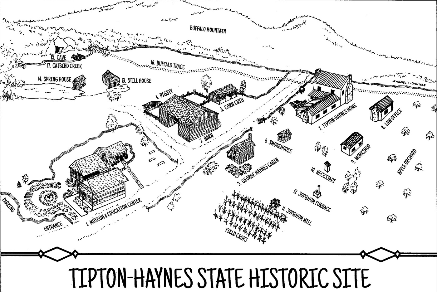 Tipton-Haynes Self-Guided Map