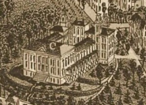 Figure 3. A close-up view of the Deaf and Dumb School from an 1886 map of Knoxville. Courtesy of the Library of Congress Geography and Map Division.
