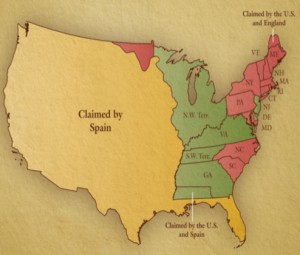 Figure 8. United States map of 1790 showing the Southwest Territory. Courtesy of Natural Concepts.