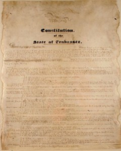 Figure 9. The second constitution of the State of Tennessee. Courtesy of Natural Concepts.