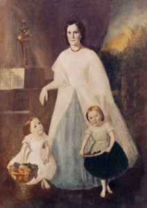 Figure 1. Samuel Shaver portrait of Emmaline, Mary Eva, and Rhoda Emma.