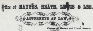 Figure 7. A letterhead of the Memphis attorney office of Haynes and his partners.