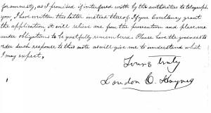 Haynes - Letter